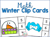 Winter Math Clip Cards FREEBIE
