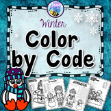 Winter Math Color by Code