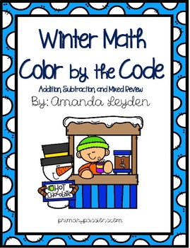 Winter Math Color by the Code