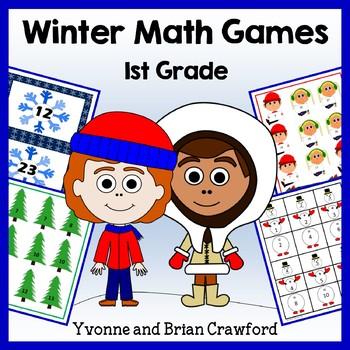 Winter Math Common Core Game Centers - 1st grade