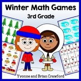 Winter Math Common Core Game Centers - 3rd grade