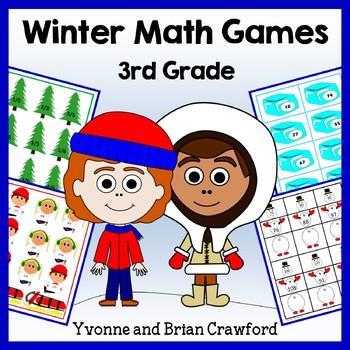 Winter Math Common Core Game Centers - 3rd grade