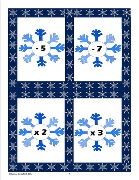 Winter Math Common Core Game Centers - 4th grade