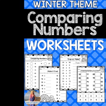 Winter Math Comparing Numbers Worksheets (Greater Than/Less Than)