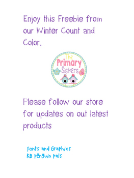 Winter Math Count and Color Freebie