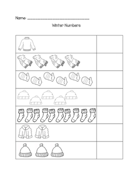Winter Math Count and Write 1-10