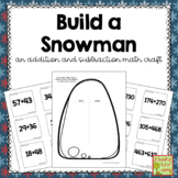 Winter Math Craft for Addition and Subtraction