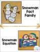 Winter Math Craftivities for First Grade {Fact Families, Equations & Graphing}