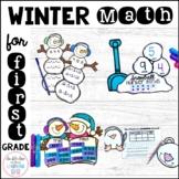 Winter Math Craftivities for First Grade {Fact Families, E