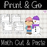 Winter Math Cut & Paste
