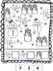 Winter Coloring Pages: Developing Math Skills for Preschool, PreK and K