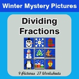 Winter Math: Dividing Fractions - Color-By-Number Mystery