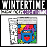 Winter Math Division Color by Number Worksheets 2