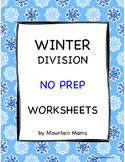Winter Math Division Worksheets Packet NO PREP Printables