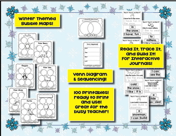 Winter Math ~ ELA Printables! 100 Pages - Winter Themed Printables!
