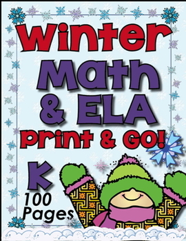 Winter Math ~ ELA Printables! 100 Pages - Winter Themed Pr