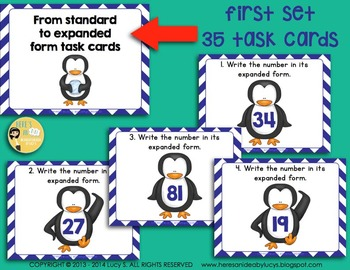 Winter Math SCOOT Task Cards