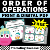 FREE Order of Operations Game, Winter Math Activities, 5th