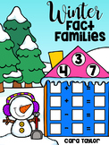 Winter Math ~ Fact Families Center and Printables