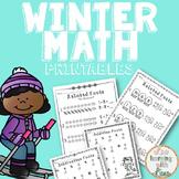 Winter Math Fact Family Printables FREE