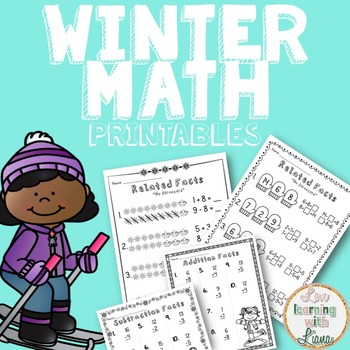 Winter Math Fact Family Printables FREE