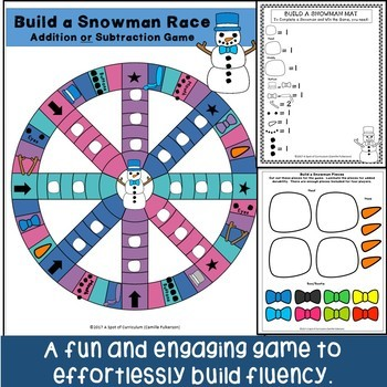 Winter Math Fact Fluency Games: Addition and Subtraction