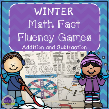 Winter Math Fact Fluency Games for Addition and Subtraction