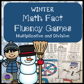 Winter Math Fact Fluency Games for Multiplication and Division