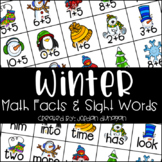 Winter Math Fact and Sight Word Flash Cards {Editable!}