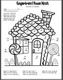 Winter Math Facts Color Sheet 2 digit subtraction with regrouping