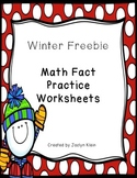 Winter Math Facts Freebie