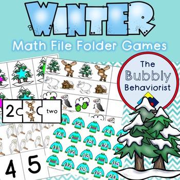 Winter Math File Folder Games