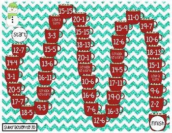 Winter Math Fluency Game