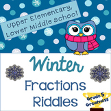 Winter Math: Fractions with Winter Riddles