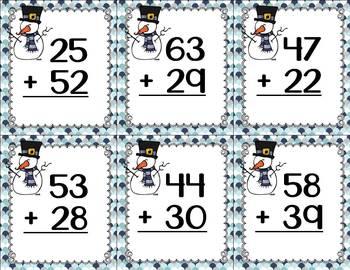 Winter Math Fun (2-digit regrouping)