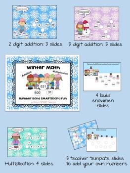 Winter Math Fun: Number Bond SMART Board Activities