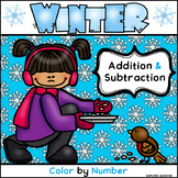 Winter Math Fun / Two Digit Addition & Subtraction / Color by Number