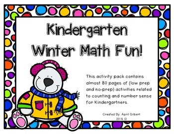 Winter Math Fun for Kindergartners