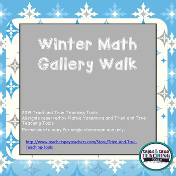 Winter Math Gallery Walk