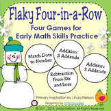 Winter Math Games ~ Flaky Four-in-a-Row