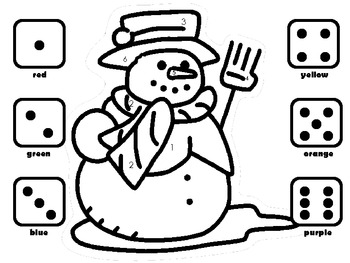 Winter Math Games: Roll, Count, Combine, Identify