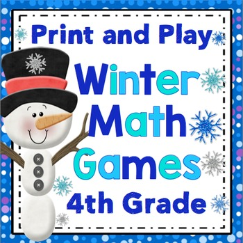 winter math games 4th grade by math mojo teachers pay teachers. Black Bedroom Furniture Sets. Home Design Ideas