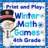 4th Grade Winter Math - 4th Grade Print and Play Winter Math Games