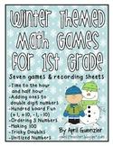 Winter Math Games for 1st Grade