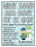 Winter Math Games for 1st Grade