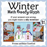 Winter Math Goofy Glyph (1st Grade Common Core)