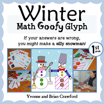 Winter Math Goofy Glyph (1st Grade Common Core)