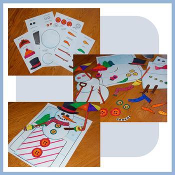 Winter Math Goofy Glyph (2nd Grade Common Core)