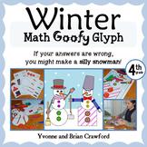 Winter Math Goofy Glyph (4th Grade Common Core)