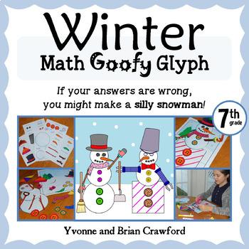Winter Math Goofy Glyph (7th Grade Common Core)